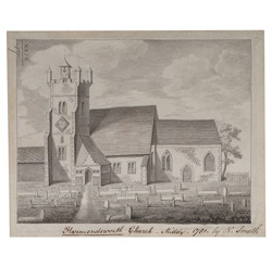 A View of Harmondsworth Church- Middx 1781
